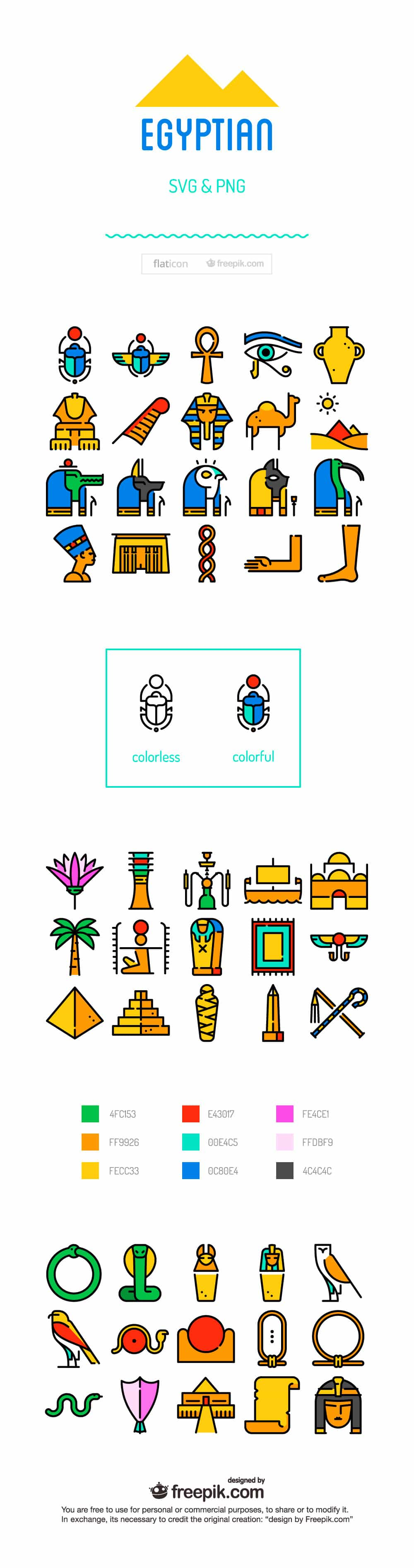 CLD Exclusive Freebie: Ancient Egyptian Hieroglyphics Set (Vector)