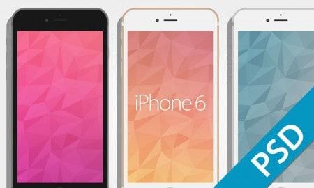 flat iphone 6 mockup templates