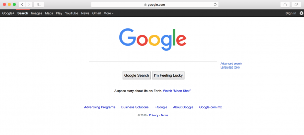 What is negative space and how does it apply to web design - Google home page design ...