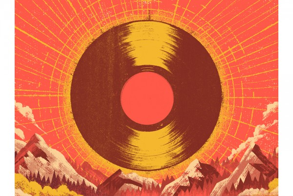 Disc illustrated as sun