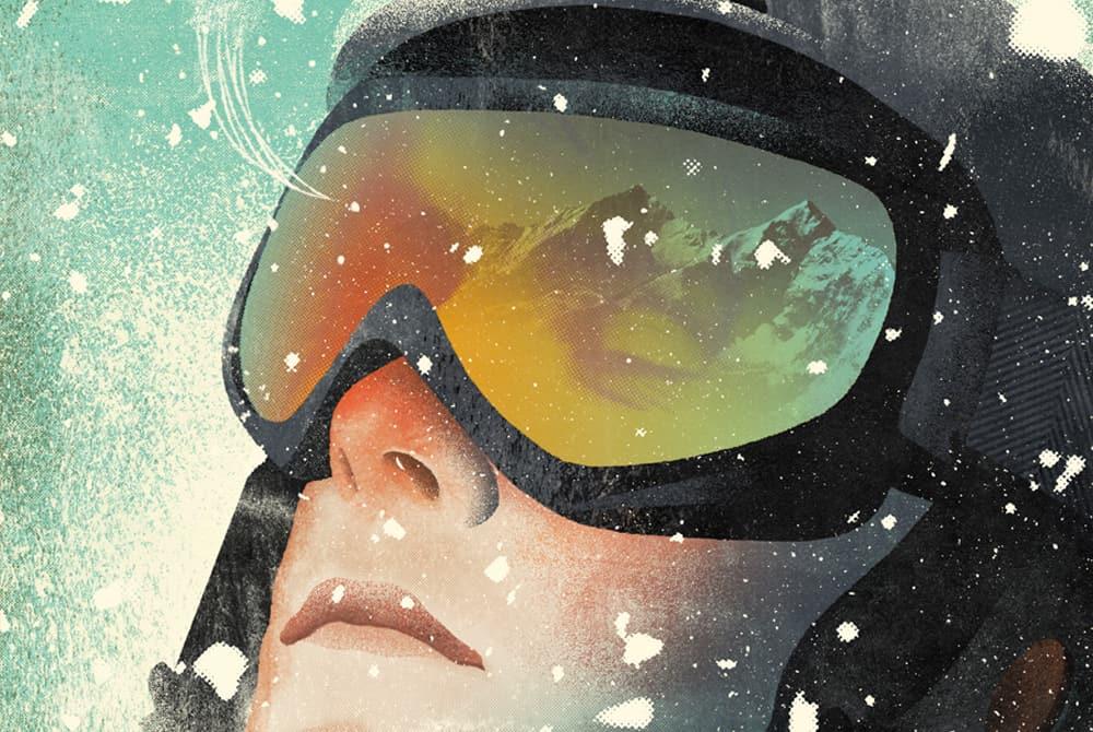 Ski goggles illustration