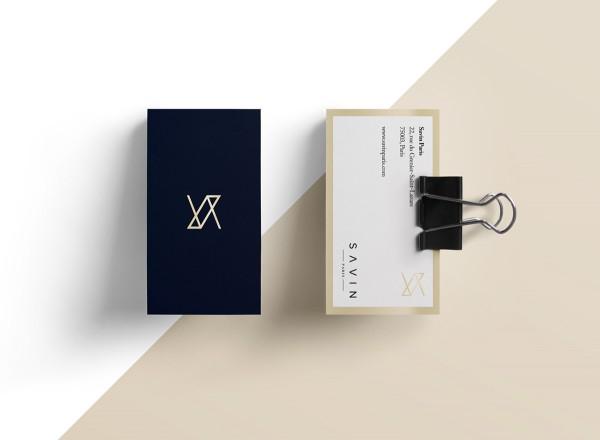 savin paris business card