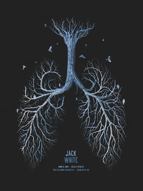 A stylistic illustration of lungs