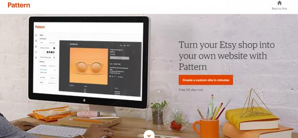 New Etsy Pattern vs. Squarespace Website Builder