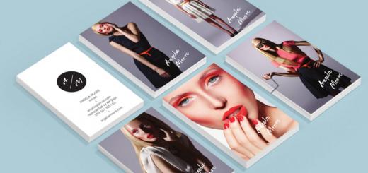 Porthole Portfolio Business Card For Boutique