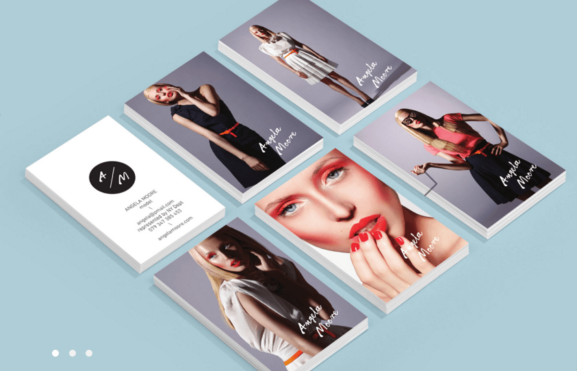 Porthole Portfolio Business Card For Boutique