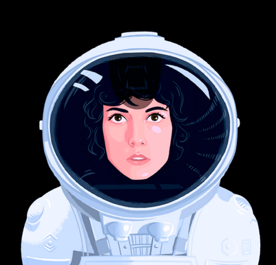 a lady astronaut