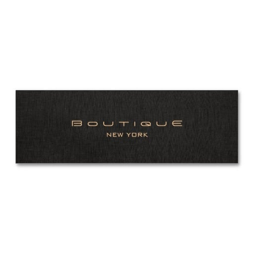 nyc boutique card design