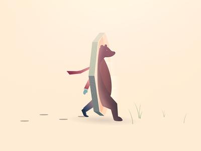 stylistic illustration of bear