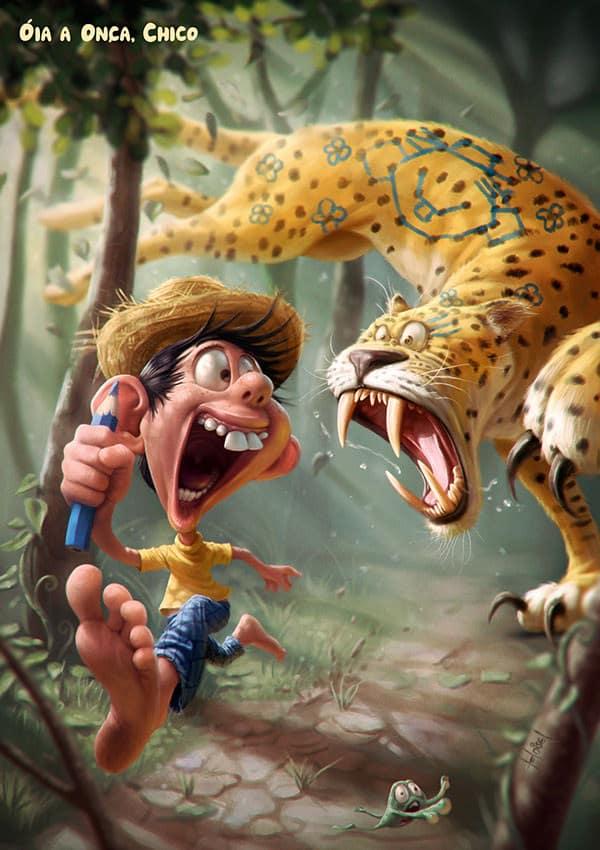 cheetah chasing boy