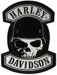 Harley davidson skull logo history bonus wallpaper skull with helmet logo voltagebd Choice Image