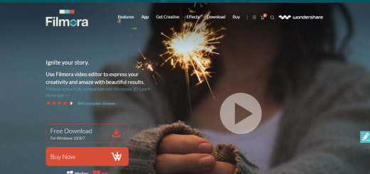 Filmora Homepage