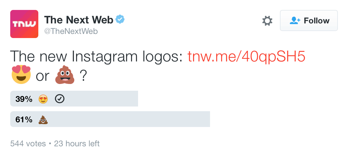 poll about new instagram logo