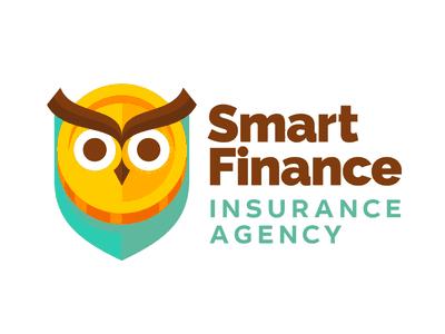 Owl with coin logo
