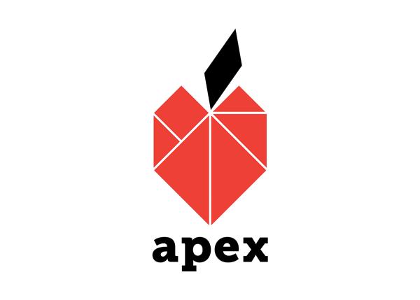 Red Geometric Apple Logo