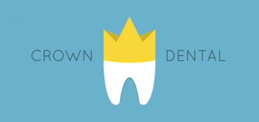 Tooth with gold crown