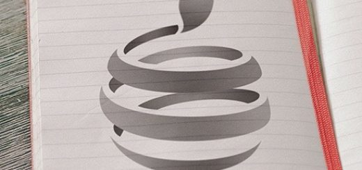 Apple Logo with Swirl