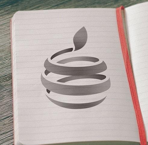 Apple Logo with Swirl