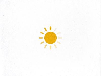 Simple sun logo