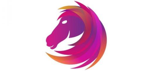 Horse with Purple mane