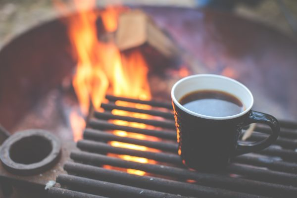 coffe and bonfire