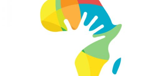 Colorful africa and hand