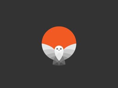Night time owl logo