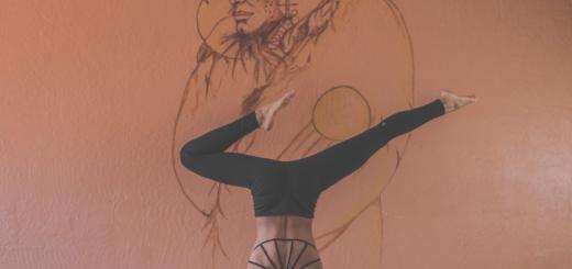 yoga, art, pose, wall