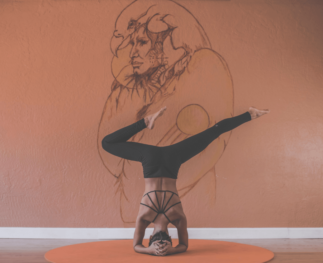 yoga, art, pose, wall