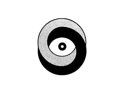 Eye with rings logo