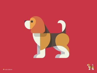 Red beagle logo