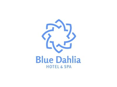 Blue dahlia design