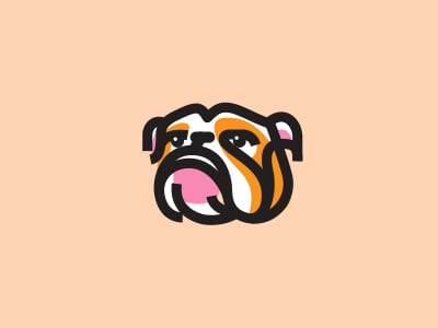 Bulldog designed logo