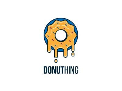 Blue donut logo