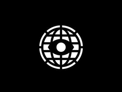 Black globe eye design