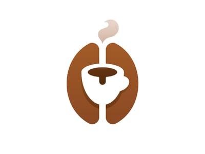 Coffee bean logo