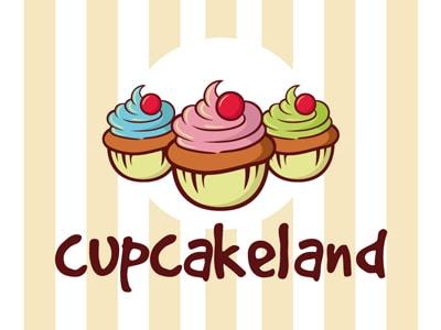 Three cupcake logo