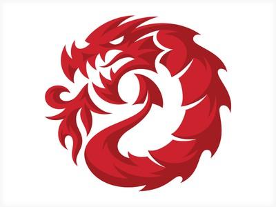 Fire-breathing dragon logo