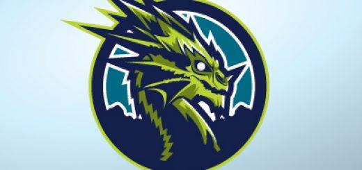 Green ferocious dragon