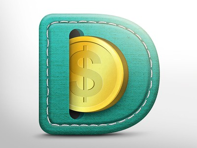 Coin and wallet logo