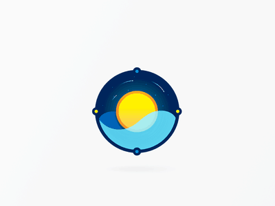 Sun and water logo