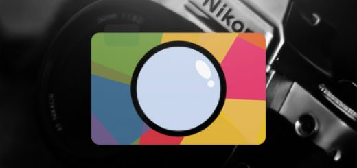 Multi-colored camera logo