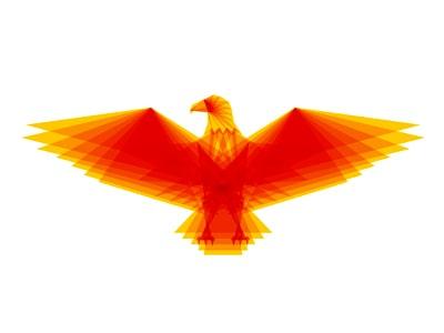 Fiery red bird