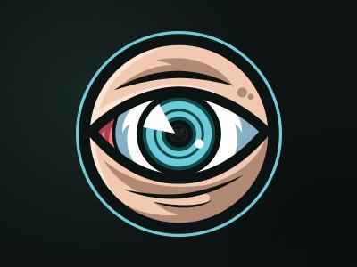 Realistic eye logo