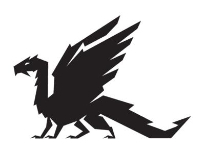 Basic black dragon logo
