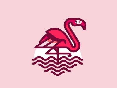 Pink flamingo logo
