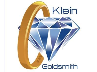 Gold ring and diamond logo