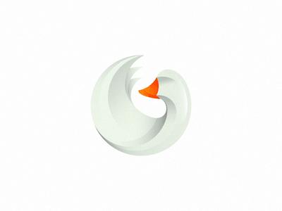 White goose design