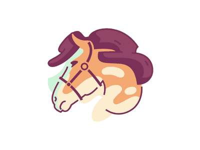 Watercolor designed horse