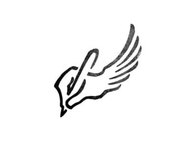 pen with wings logo